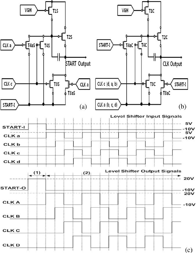 a depletion mode in ga zn o thin film transistor shift register rh semanticscholar org Linear Feedback Shift Register Shift Register Timing Diagram