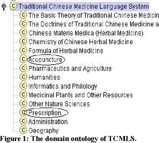 Figure 1: The domain ontology of TCMLS.