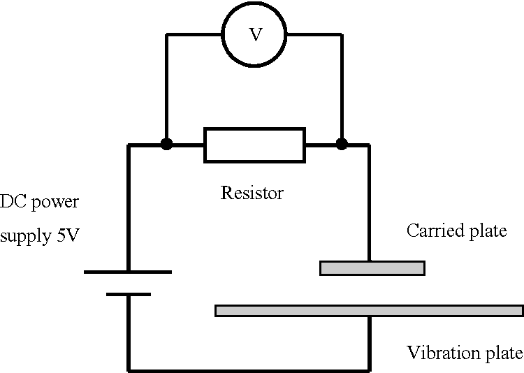 Fig. 11: Electrical connection for detection of levitation