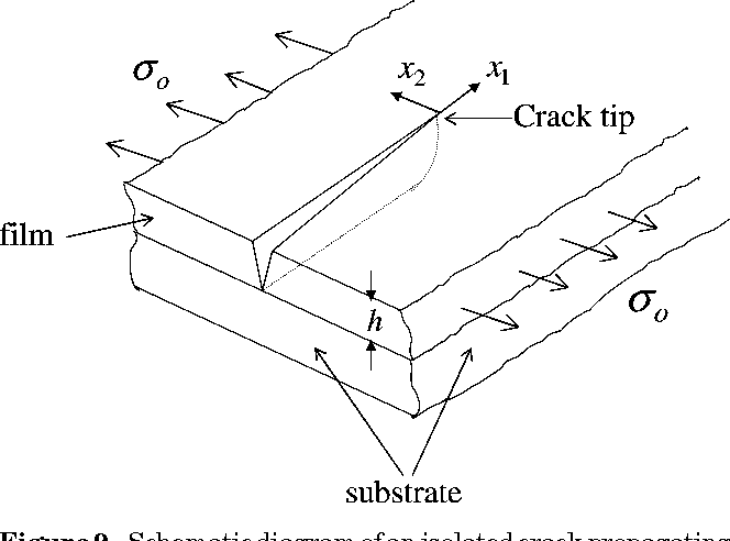 Figure 9 from cracking in drying latex films semantic scholar figure 9 schematic diagram of an isolated crack propagating across the film ccuart Gallery