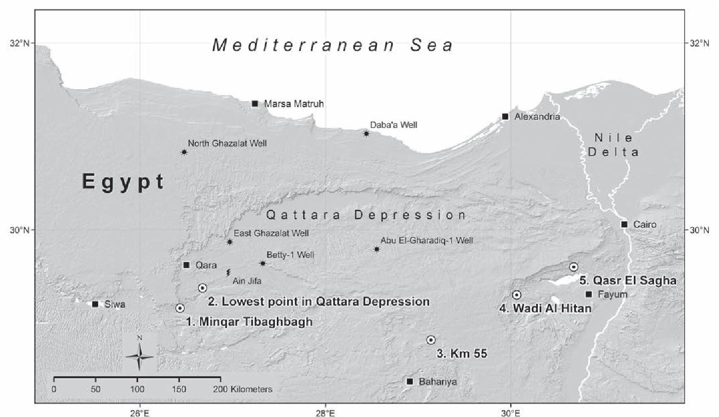 Qattara Depression Map on