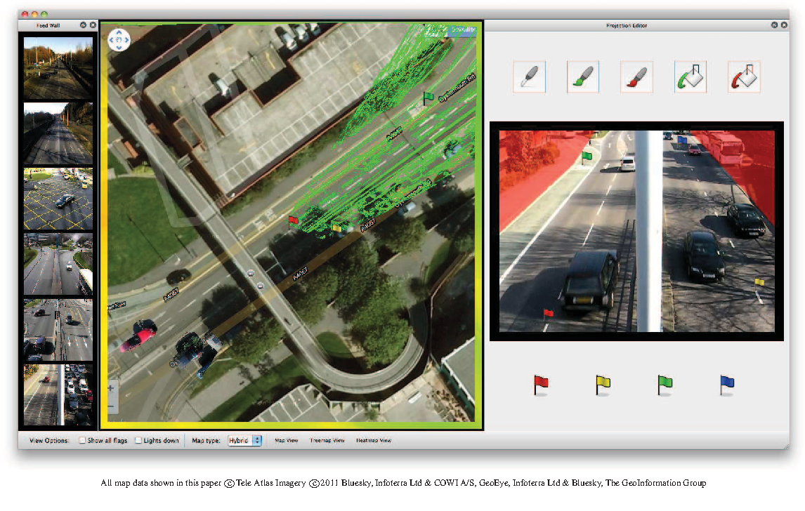 Figure 2 from LiveLayer : Real-time Traffic Video Visualisation on on weather maps, information maps, street view maps, driving directions maps, google maps, dynamic maps,