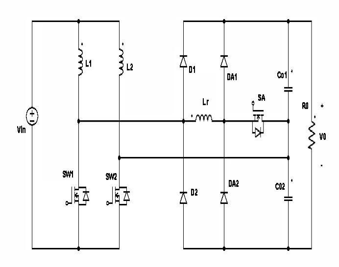 Fig 2: Circuit Diagram of proposed converter [24]