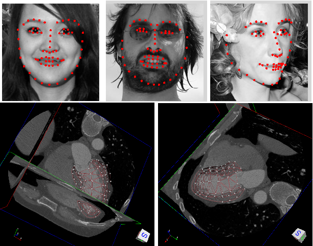 Figure 1 for Globally Tuned Cascade Pose Regression via Back Propagation with Application in 2D Face Pose Estimation and Heart Segmentation in 3D CT Images