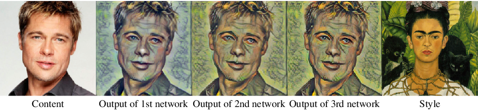Figure 4 for Uncorrelated Feature Encoding for Faster Image Style Transfer