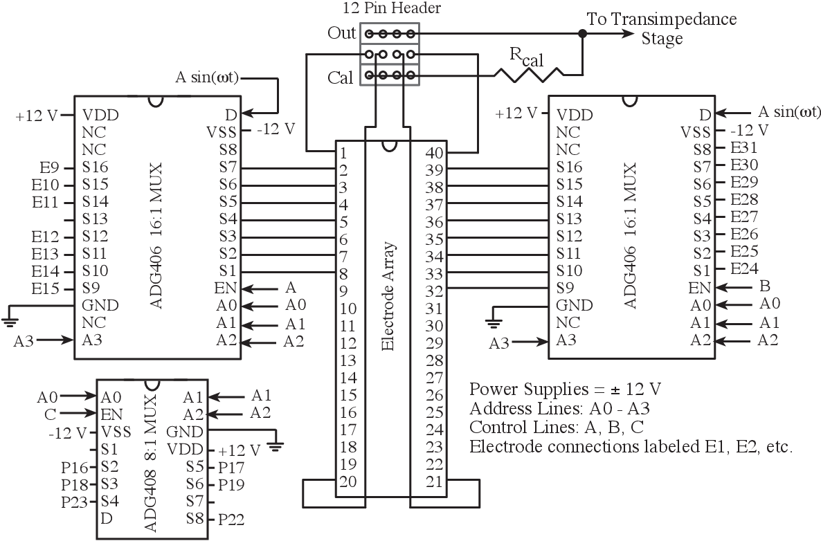 Cell Based Biosensors Using Microelectrodes Semantic Scholar Circuit Diagram Of 8 To 1 Multiplexer
