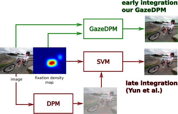 Figure 1 for GazeDPM: Early Integration of Gaze Information in Deformable Part Models