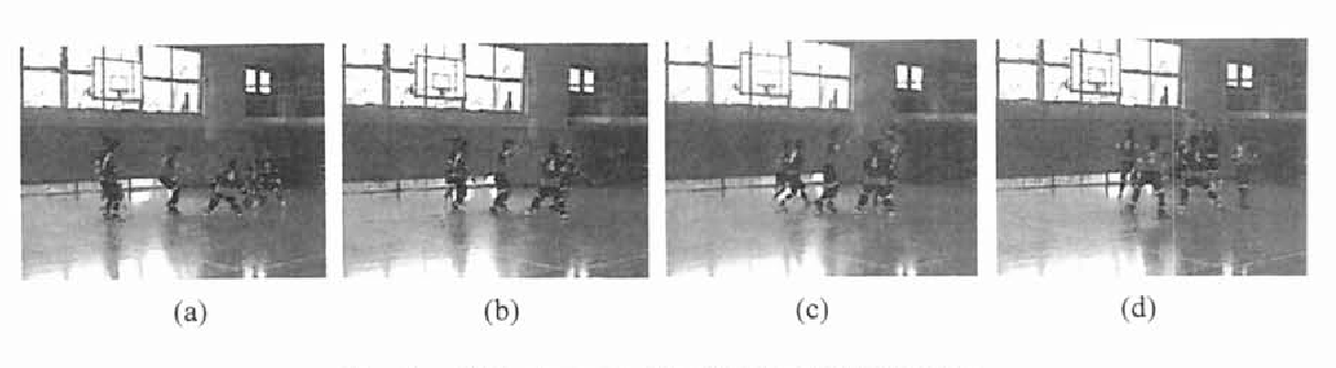 Fig. 1. Video images of a mini-basketball game.