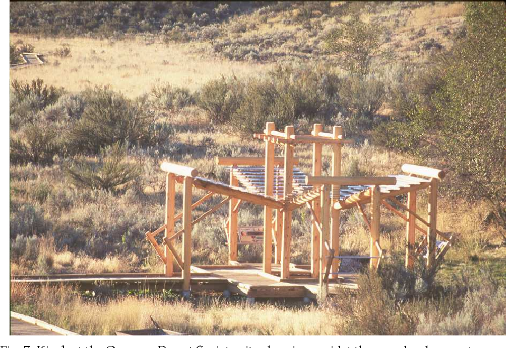 Fig. 7. Kiosk at the Osoyoos Desert Society site showing amidst the grassland ecosystem with scattered shrubs of antelope bitterbrush (Purshia tridentata); photo courtesy of the