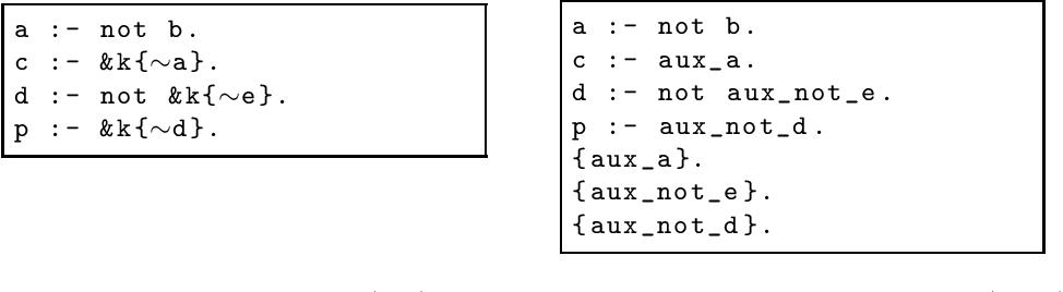 Figure 1 for eclingo: A solver for Epistemic Logic Programs