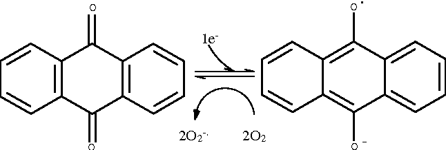 Fig. 4 Activation of the anthraquinone moiety into a semi-quinone radical