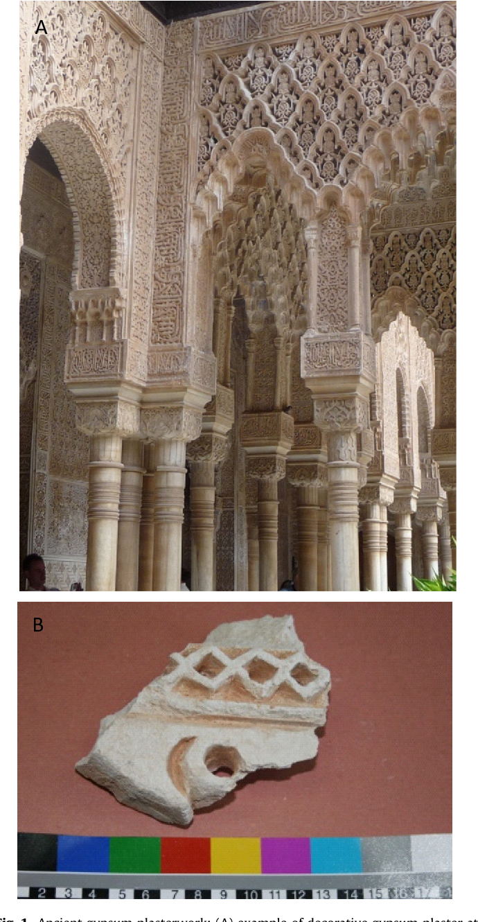 Figure 1 from Consolidation of archaeological gypsum plaster by