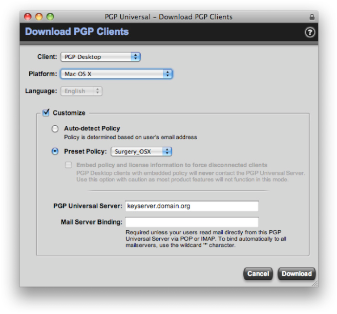 Deploying PGP whole disk encryption in Mac OS X - Semantic