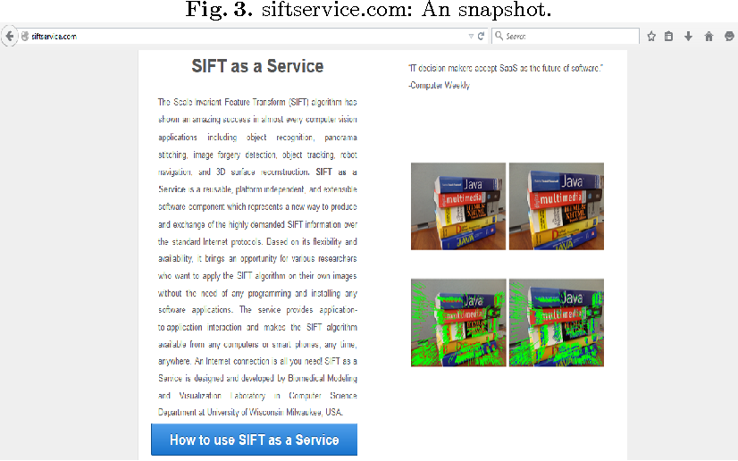 Figure 3 for siftservice.com - Turning a Computer Vision algorithm into a World Wide Web Service