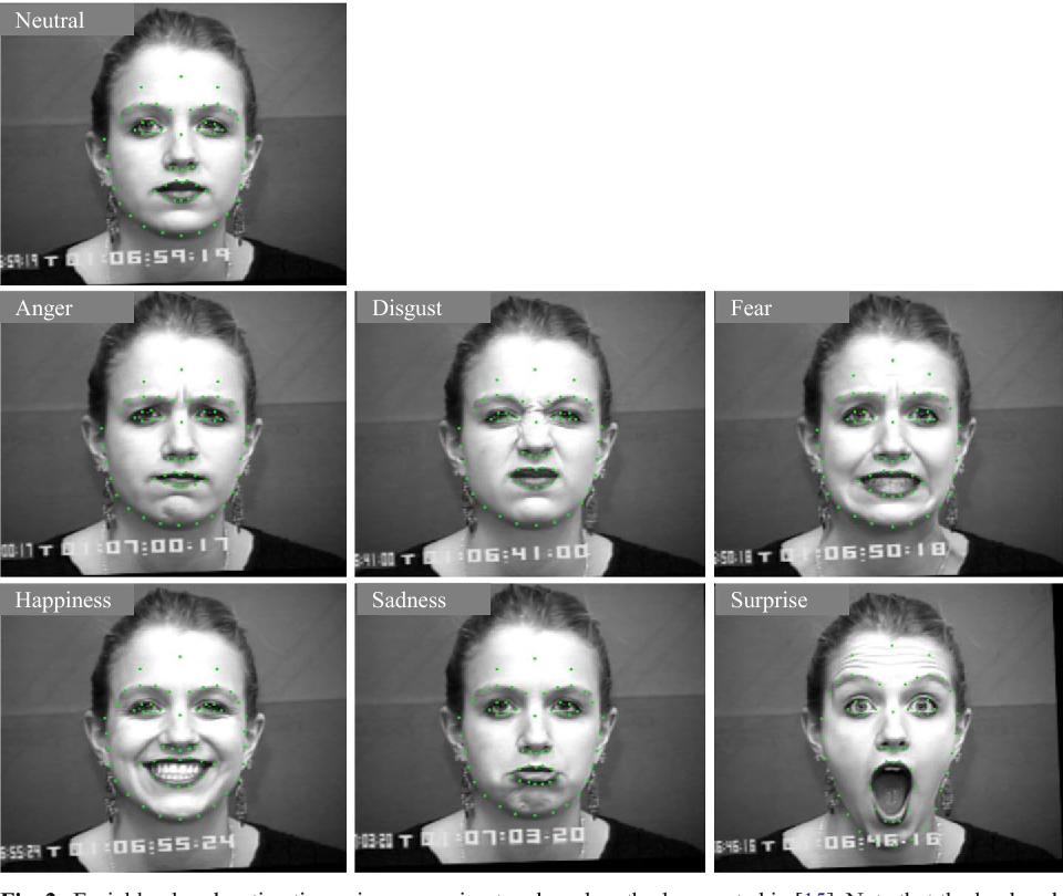 Figure 3 for Facial expression recognition based on local region specific features and support vector machines