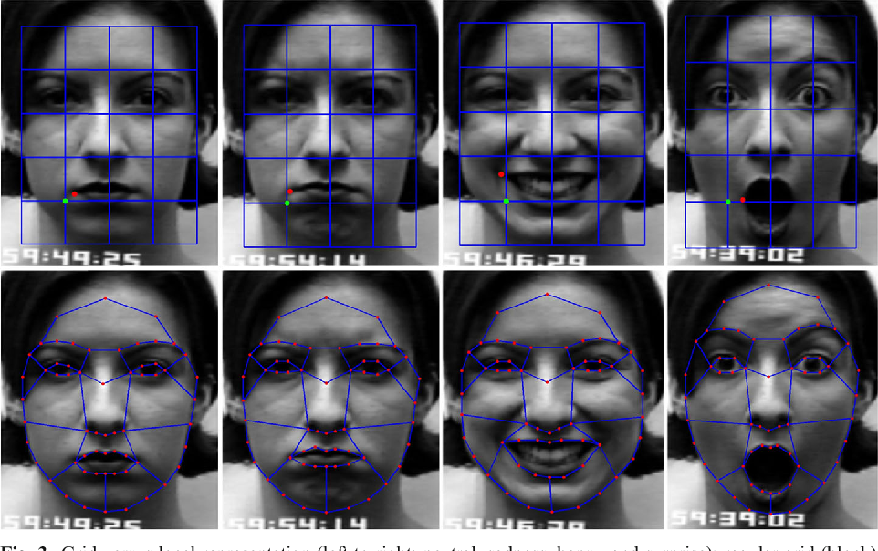 Figure 4 for Facial expression recognition based on local region specific features and support vector machines