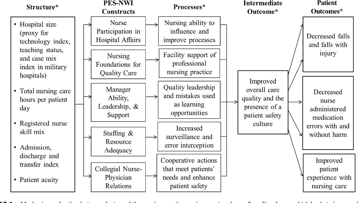 Relationships between Army nursing practice environments and