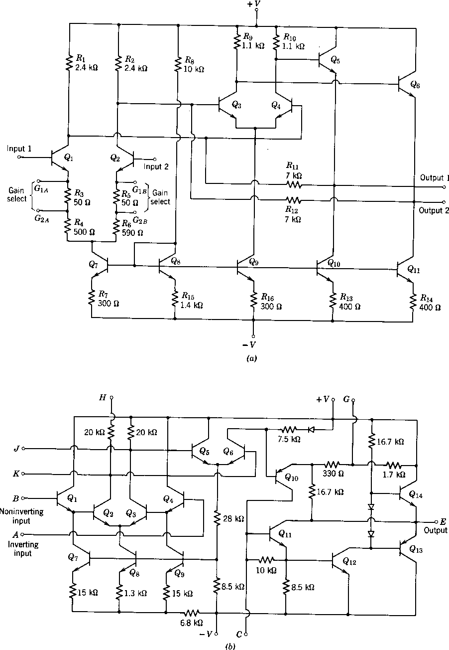 Figure 913 From An Illustrative Design 91 Circuit Description Integrated Amplifier Images Of Amplifiers A Ua733 B Mc1533