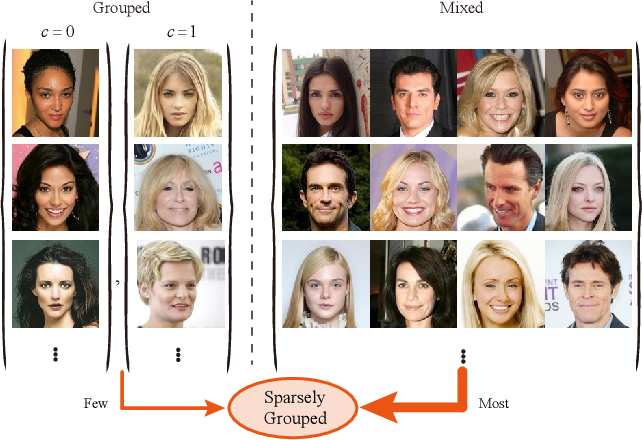 Figure 1 for Sparsely Grouped Multi-task Generative Adversarial Networks for Facial Attribute Manipulation