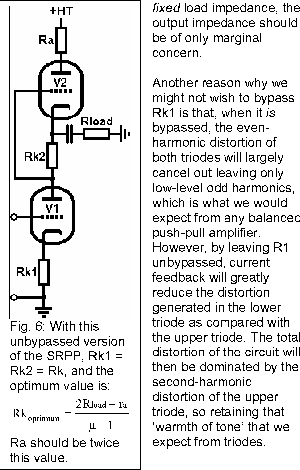 Figure 6 from The Optimised SRPP Amp ( Part 1 ) By Merlin Blencowe