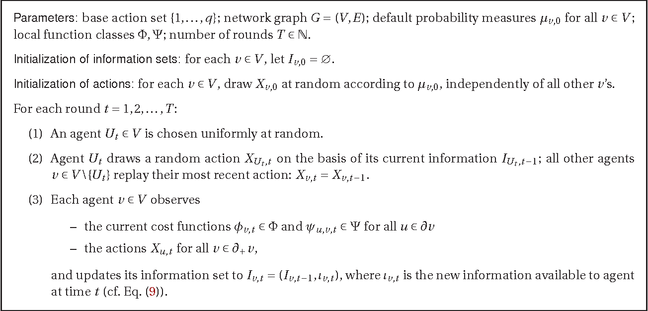 Figure 1 for Online discrete optimization in social networks in the presence of Knightian uncertainty