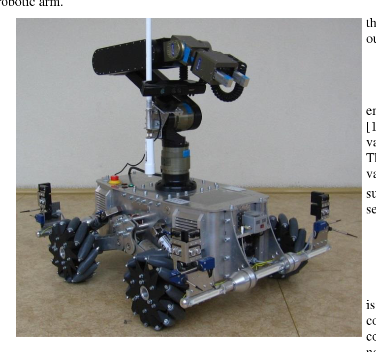 Collision-free manipulation of a robotic arm using the MS Windows
