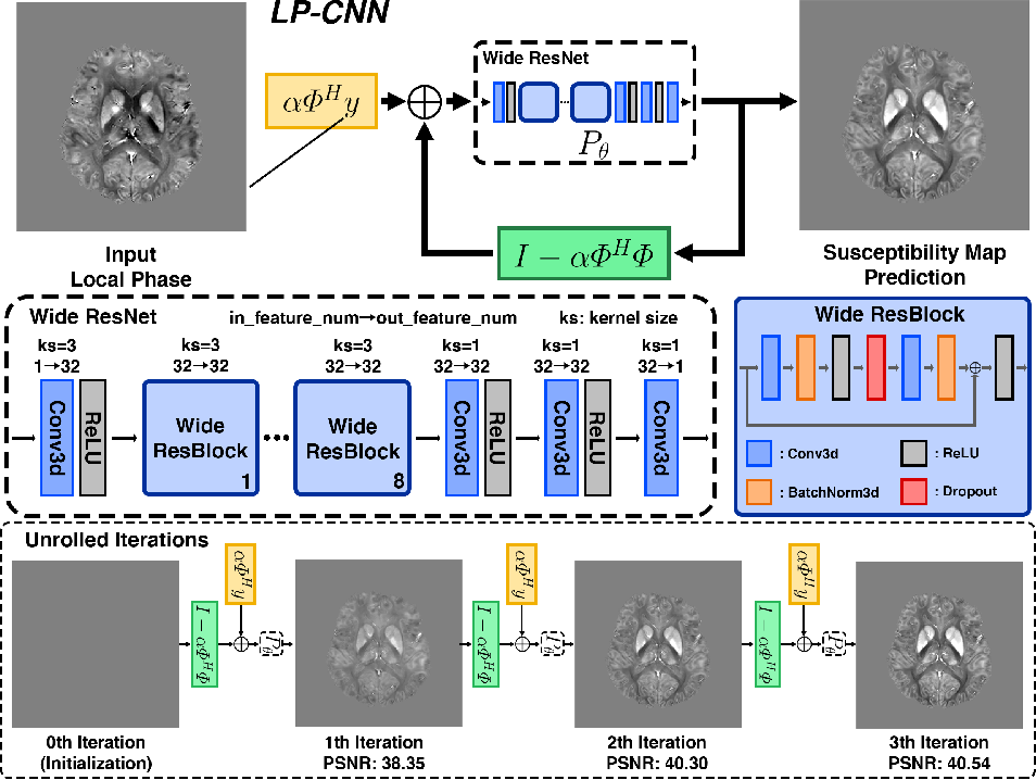 Figure 1 for Learned Proximal Networks for Quantitative Susceptibility Mapping