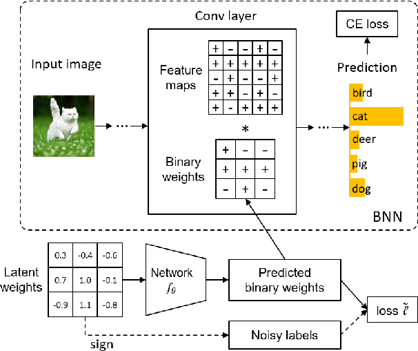 Figure 1 for Training Binary Neural Networks through Learning with Noisy Supervision