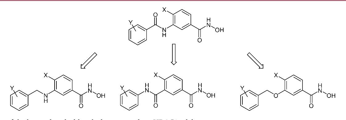 Figure 3. Series of the herein described benzhydroxamic acids as HDAC8 inhibitors.