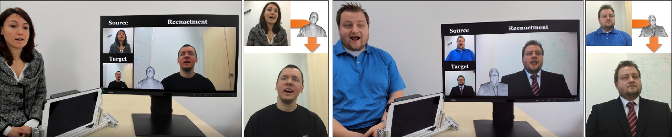 Figure 1 for HeadOn: Real-time Reenactment of Human Portrait Videos