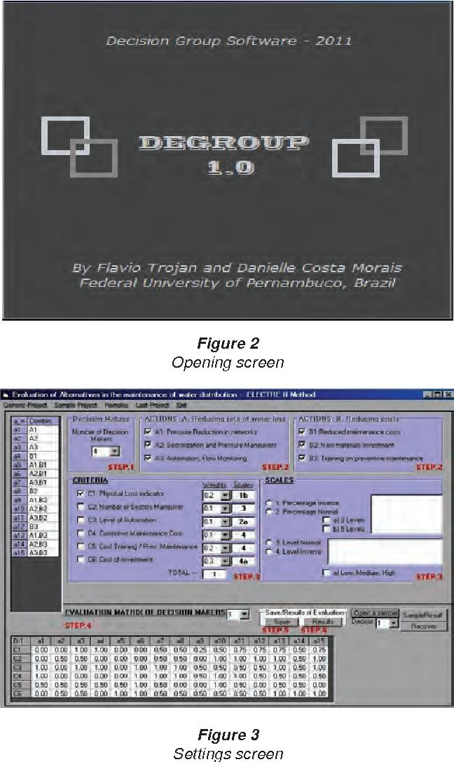 Figure 3 Settings screen