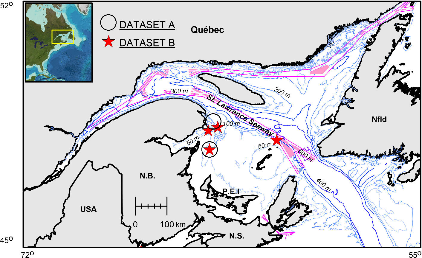 Figure 1 for Performance of a Deep Neural Network at Detecting North Atlantic Right Whale Upcalls