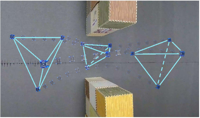 Figure 4 for Distributed Swarm Trajectory Optimization for Formation Flight in Dense Environments