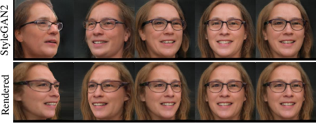 Figure 4 for Lifting 2D StyleGAN for 3D-Aware Face Generation