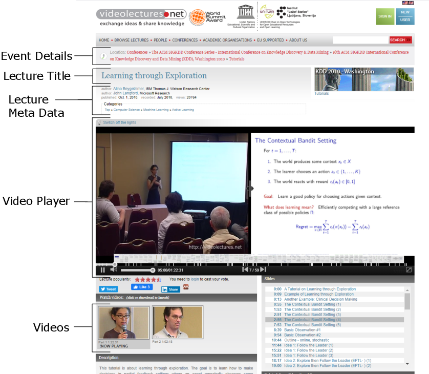 Figure 1 for PEEK: A Large Dataset of Learner Engagement with Educational Videos
