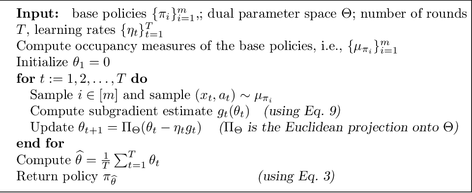 Figure 1 for Optimizing over a Restricted Policy Class in Markov Decision Processes