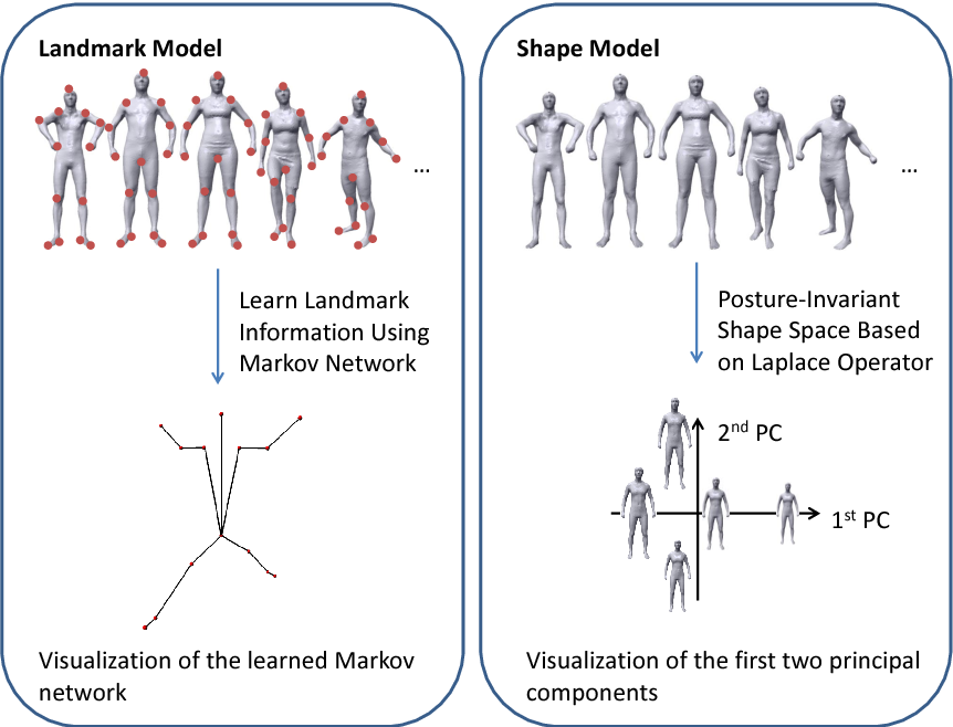 Figure 1 for Estimation of Human Body Shape and Posture Under Clothing