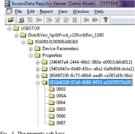 Figure 3 from USB Device Forensics: Insertion and removal timestamps