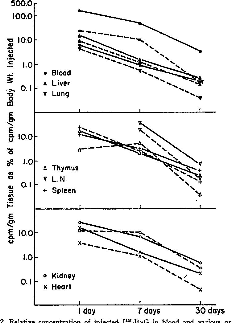 Figure 2 From Role Of The Thymus In Tolerance Vii Distribution Of