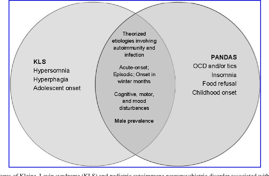 Features Of Kleine Levin Syndrome Kls And Pediatric Autoimmune