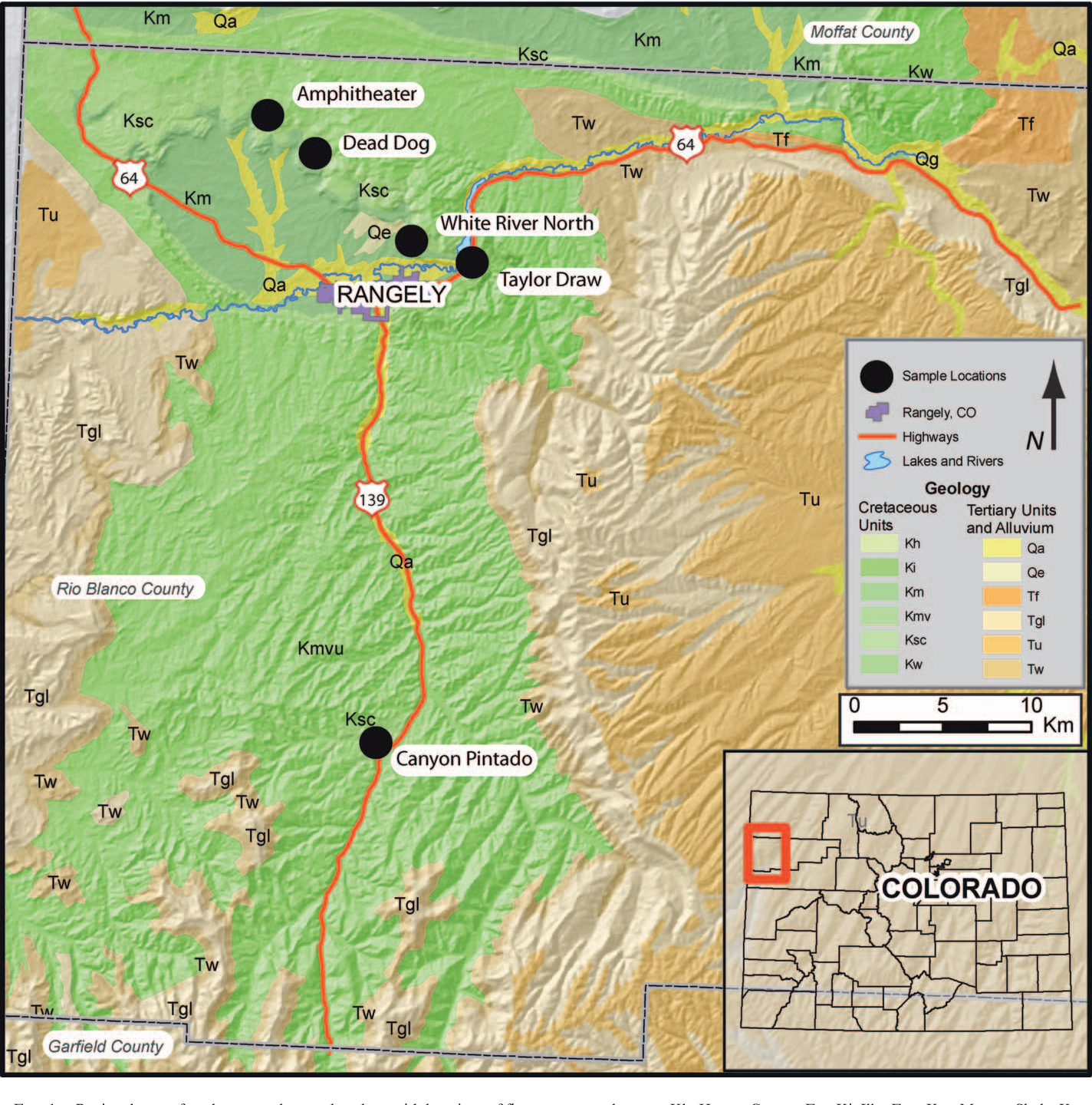 Nw Colorado Map.Figure 1 From Sedimentological Characterization Of The Sego