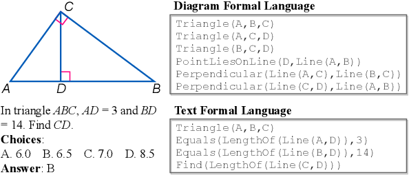 Figure 1 for Inter-GPS: Interpretable Geometry Problem Solving with Formal Language and Symbolic Reasoning