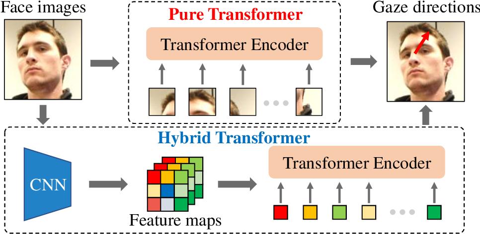 Figure 1 for Gaze Estimation using Transformer