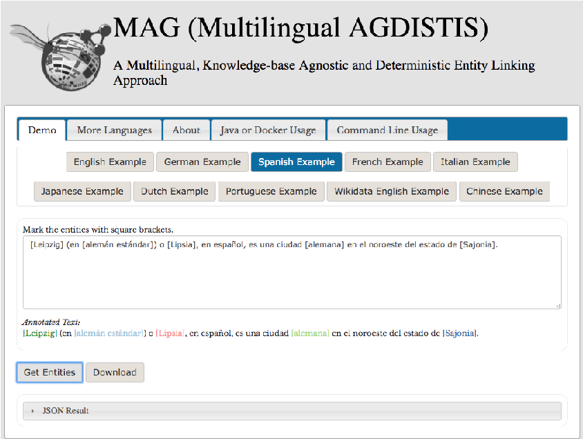 Figure 1 for Entity Linking in 40 Languages using MAG