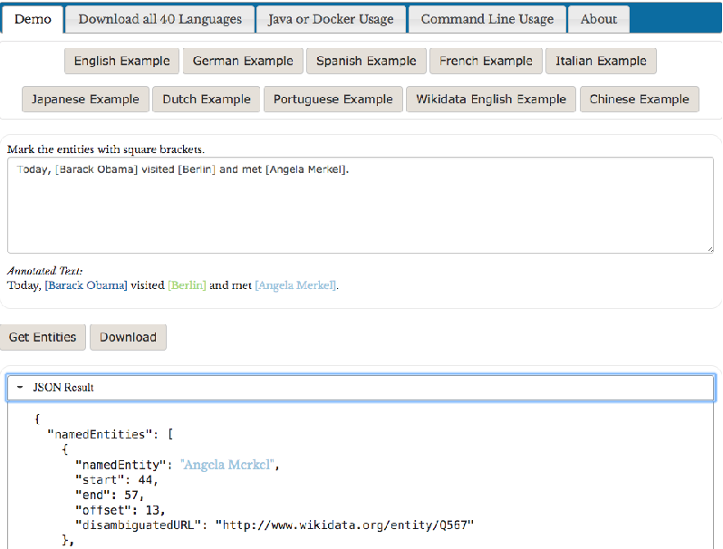 Figure 2 for Entity Linking in 40 Languages using MAG
