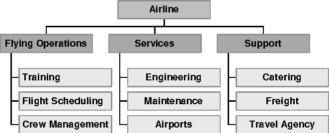 Figure 2 – Example of a Typical Airline Structure