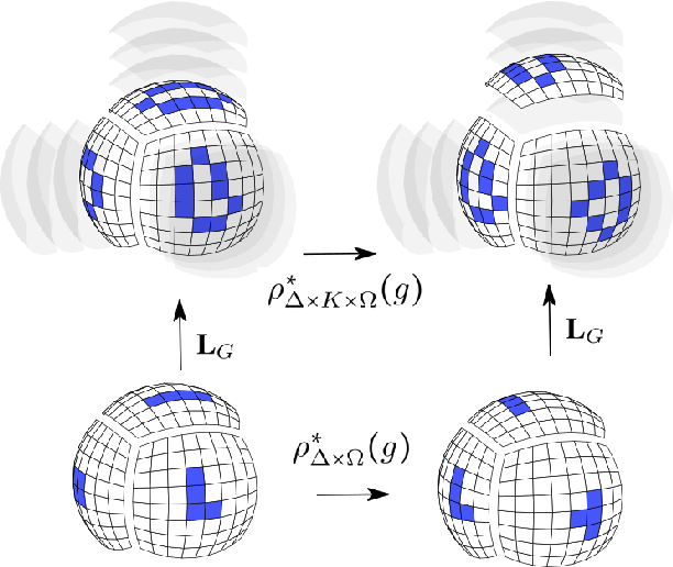 Figure 1 for Equivariant Networks for Pixelized Spheres