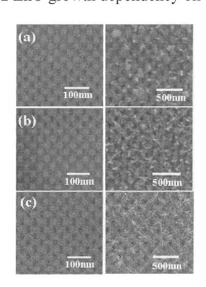 Fig. 6 SEM images of the series of growth time (a) surface of the stainless film, (b)15 , (c)30, and (d) 60 min.