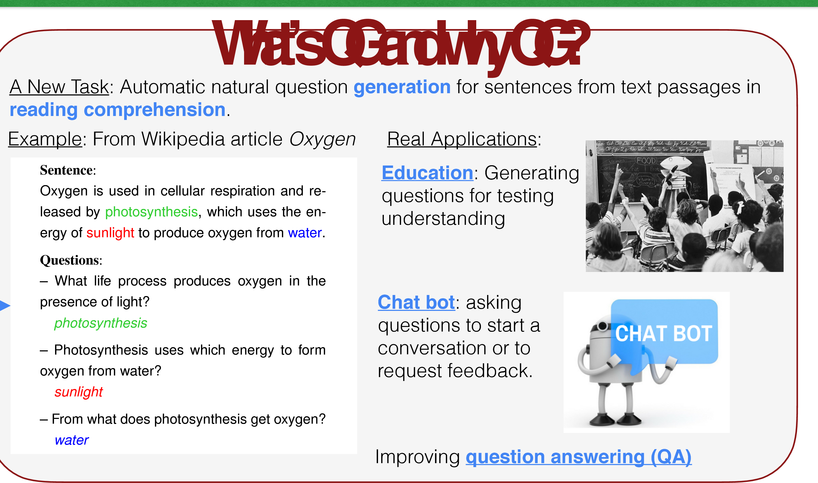 Figure 1 for Learning to Ask: Neural Question Generation for Reading Comprehension