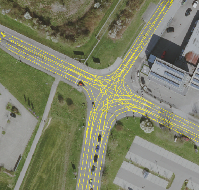 Figure 1 for Anytime Lane-Level Intersection Estimation Based on Trajectories